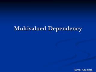 Multivalued Dependency