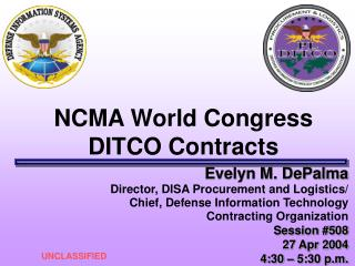 NCMA World Congress DITCO Contracts