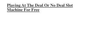 deal or no deal slot