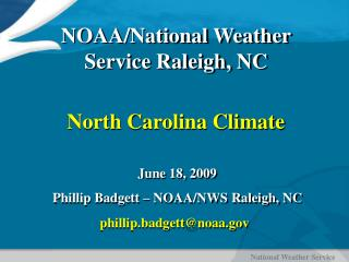North Carolina Climate