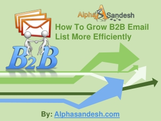 How To Grow B2B Email List More Efficiently