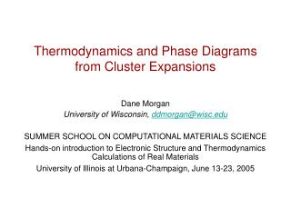 Thermodynamics and Phase Diagrams from Cluster Expansions