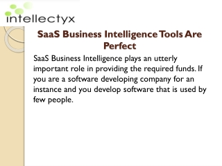 SaaS Business Intelligence Tools Are Perfect