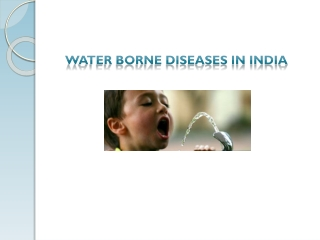 Water-Borne Diseases in India