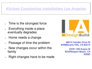 Kitchen countertop installation in LA for quick home renovat