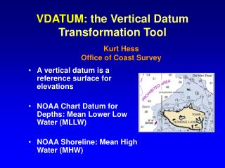 VDATUM:  the Vertical Datum Transformation Tool