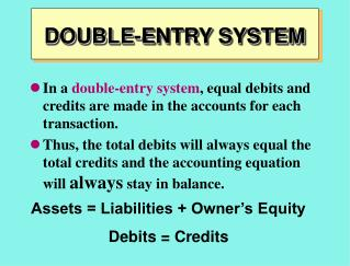 DOUBLE-ENTRY SYSTEM