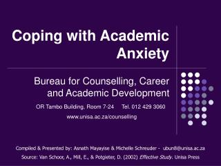 Coping with Academic Anxiety