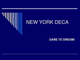 NEW YORK DECA