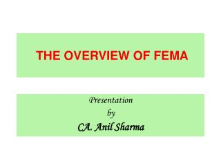 THE OVERVIEW OF FEMA
