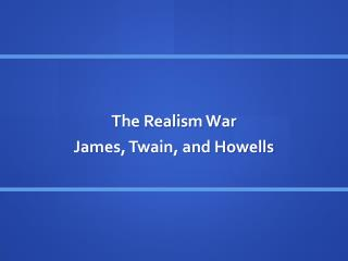 The Realism War