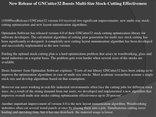 new release of gncutter32 boosts multi-size stock-cutting ef