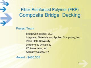 Fiber-Reinforced Polymer FRP Composite Bridge  Decking for Moveable Bridges