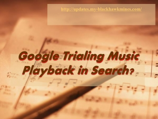 Google Trialing Music Playback in Search?