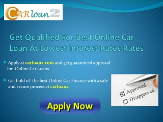 Online Car Loan Application
