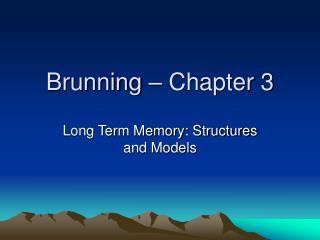Brunning – Chapter 3
