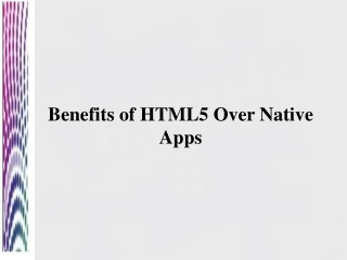 HTML5 Wins The Battle over native appps