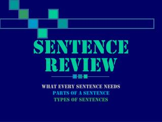 Sentence Review