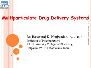 Multiparticulate Drug Delivery Systems