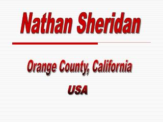 nathan sheridan orange county, california