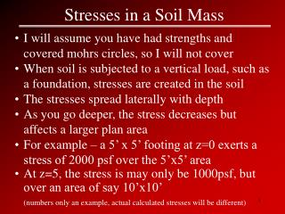 Stresses in a Soil Mass