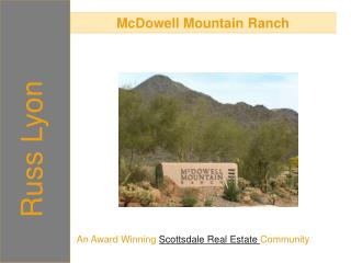 mcdowell mountain ranch - an award winning scottsdale real e