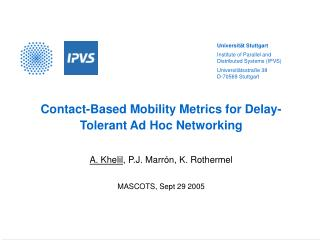 Contact-Based Mobility Metrics for Delay-Tolerant Ad Hoc Networking