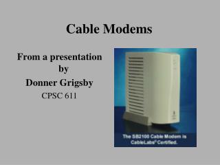 Cable Modems