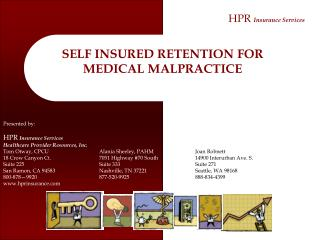 Elements of Malpractice - Insurance