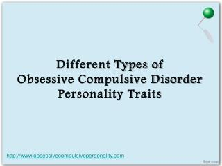 what are the different obsessive compulsive disorder persona