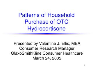 Patterns of Household Purchase of OTC Hydrocortisone