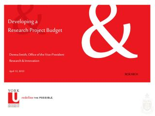 Developing a  Research Project Budget