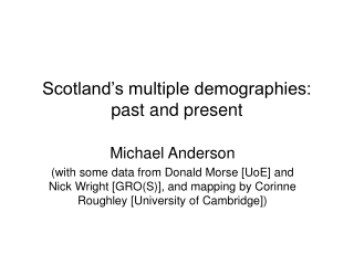 Demography Stats and that