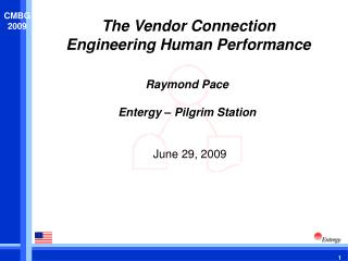 The Vendor Connection Engineering Human Performance
