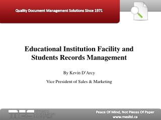 educational institution facility & student records managemen