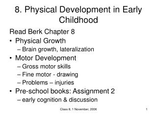 8. Physical Development in Early Childhood