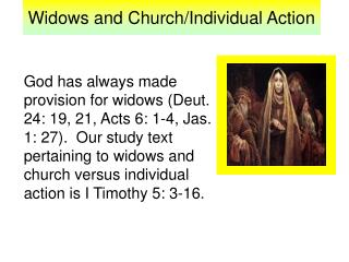 Widows and Church/Individual Action