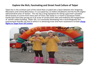 Explore the Rich, Fascinating and Street Food Culture of Tai