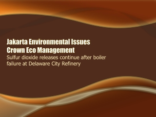 Jakarta Environmental Issues-Sulfur dioxide releases continu