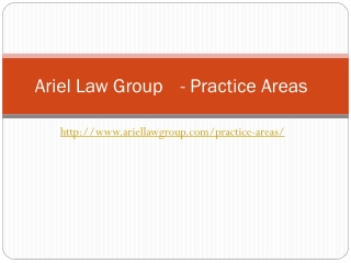 Practice areas - Ariel Law Group