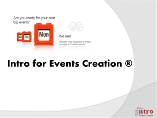 INTRO for events creation & management_PROFILE