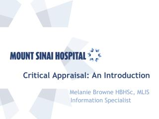 Critical Appraisal: An Introduction