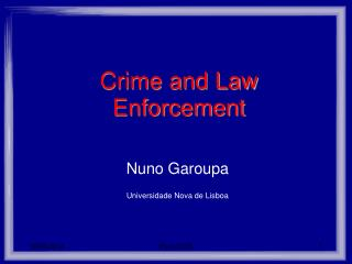 Crime and Law Enforcement