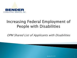 Increasing Federal Employment of People with Disabilities   OPM Shared List of Applicants with Disabilities