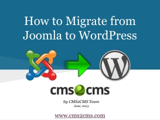 How to Migrate from Joomla to WordPress Easily with CMS2CMS