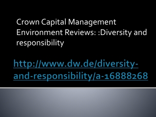 Crown Capital Management Environment Reviews: Diversity
