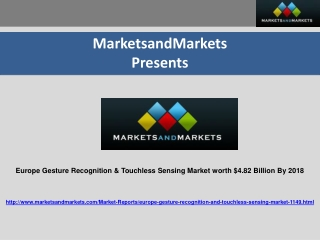 Europe Gesture Recognition & Touchless Sensing Market worth
