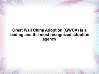 Great Wall China Adoption | Great Wall China Adoption Revie