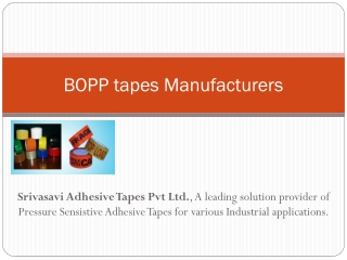Adhesive tapes Manufacturers