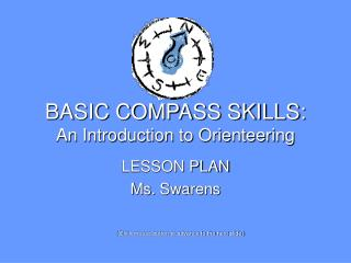 BASIC COMPASS SKILLS: An Introduction to Orienteering